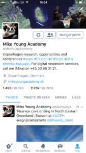 Mike Young Academy's Twitter account Copenhagen research